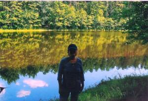 Christine Silverstein at Lake